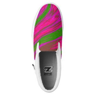 Heller rosa grüne FarbSwish Slip-On Sneaker