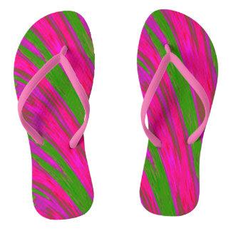 Heller rosa grüner Swish-Entwurf Flip Flops