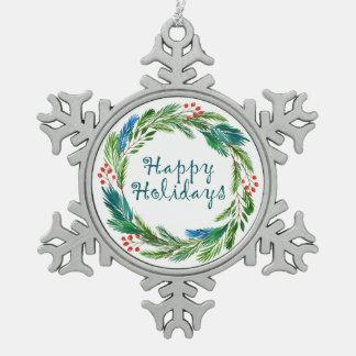 Heller Schneeflocken Zinn-Ornament