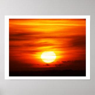 Heller Sonnenschein am Sonnenuntergang, Jersey Poster