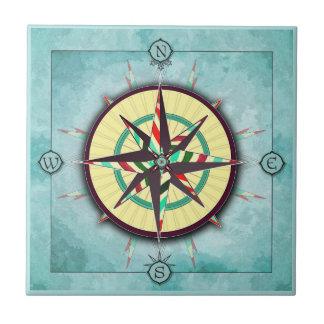 Heller Streifen-Seekompass-Keramik-Fliese Fliese