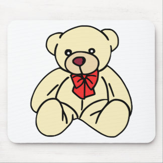 Heller TAN farbiger niedlicher Teddy-Bär Mousepad