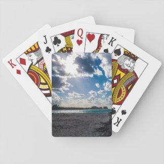 Heller tropischer Strand Spielkarten