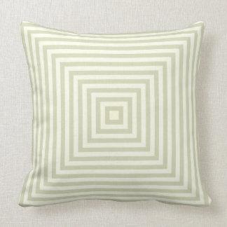 Heller weises Grün-Kasten Stripes einfaches Muster Kissen