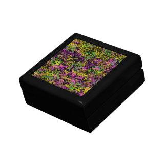 Heller Wirbel von rosa Grünem und gelb auf Kleine Quadratische Schatulle