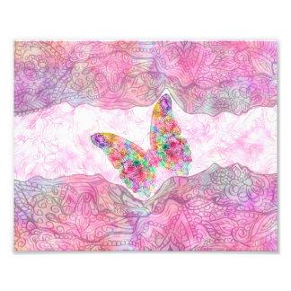 Heller wunderlicher rosa Aquarell-Paisley-Schmette Kunstfotos