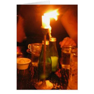 helles Abendessen der Kerze Karte