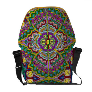 Helles abstraktes dekoratives Muster Kurier Taschen