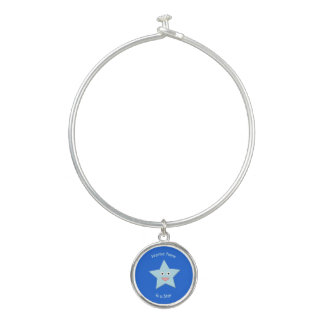 Helles blaues Feier-Stern-Gewohnheits-Armband Armreif