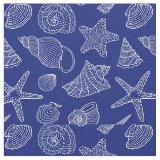 Helles blaues Muschel-Muster | addieren Ihre Stoff