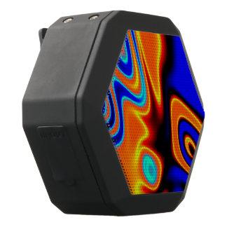 Helles blaues orange Gelb abstrakt Schwarze Bluetooth Lautsprecher