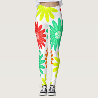 Helles Blumendruck-Yoga Leggings