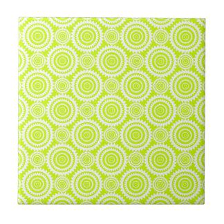 Helles Chartreuse Tagesglühen-geometrisches Muster Fliese