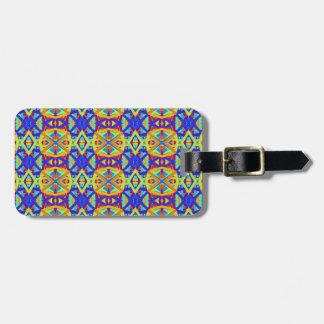 Helles Farbspaß-Muster Gepäckanhänger