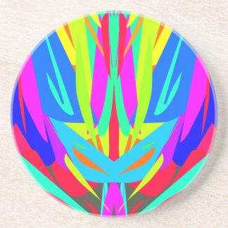 Helles festliches symmetrisches abstraktes Muster Untersetzer