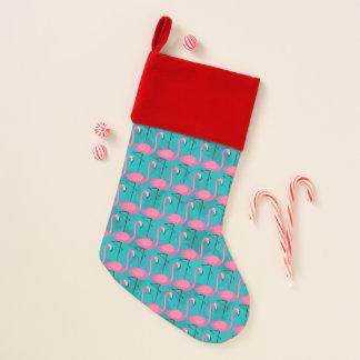 Helles Flamingo-Muster Weihnachtsstrumpf