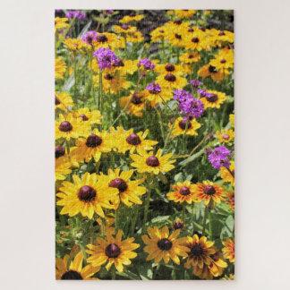 Helles gelbes Blumen-Puzzlespiel