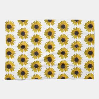 Helles gelbes Sonnenblume-Muster Handtuch