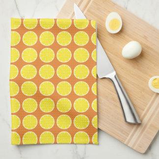 Helles gelbes Zitronen-Zitrusfrucht-Geschirrtuch Küchentuch