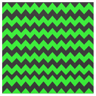 Helles, grünes und schwarzes Zickzack Muster Stoff