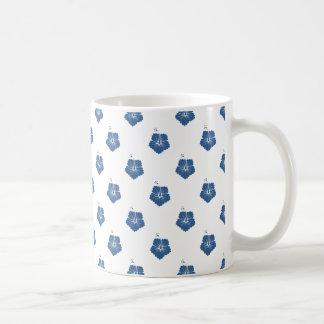 Helles Kobalt des Blumen-Muster-3 Kaffeetasse