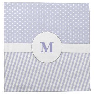 Helles Lavendel-Monogramm-Mischmuster Stoffserviette