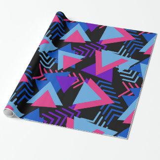 Helles lila, blaues, rosa Achtzigerjahre Geschenkpapier