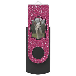 Helles n-Funkelnlama im Pink USB Stick