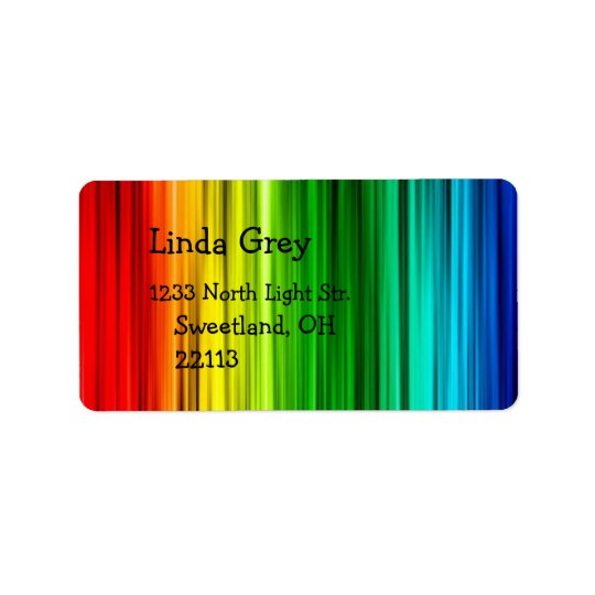 Helles Regenbogen-Adressen-Etikett Adressaufkleber