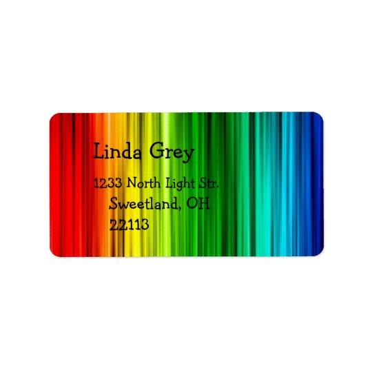 Helles Regenbogen-Adressen-Etikett Adressetiketten