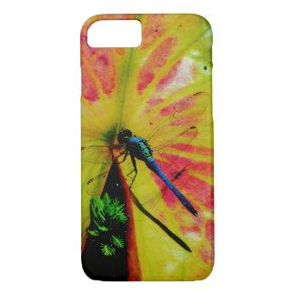 Helles Regenbogen-Libellenrosa lilypad iPhone 8/7 Hülle