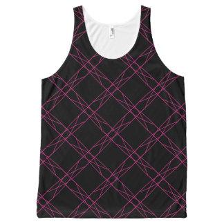 Helles rosa gestreiftes Muster Komplett Bedrucktes Tanktop