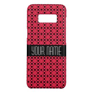 Helles rosa und schwarzes Spitze-Strudel-Muster Case-Mate Samsung Galaxy S8 Hülle