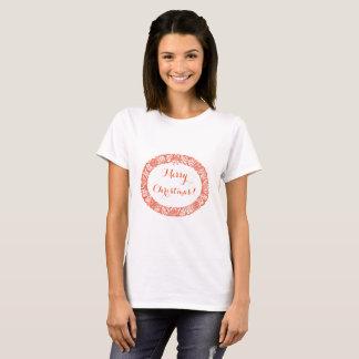 Helles Rot auf dem weißes besonders anzufertigen T-Shirt