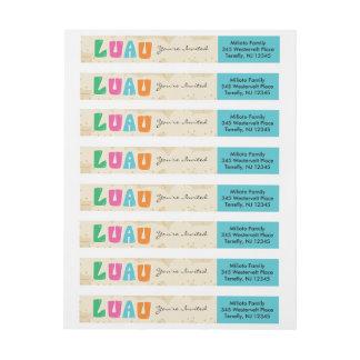 Helles u. buntes Luau Umgriffsadressen-Etikett Adressband