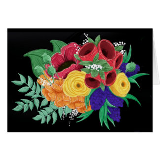 Helles u. schönes BlumenNotecard Karte