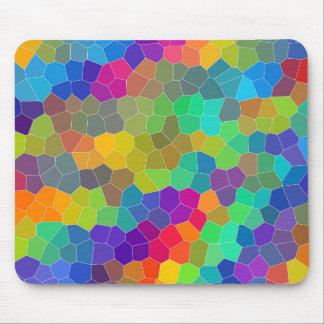 Helles und buntes Polygon-Mosaik-Muster Mousepads
