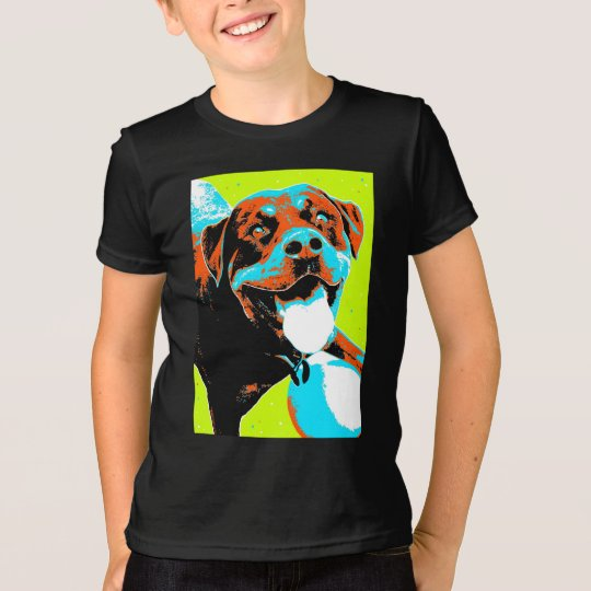 Helles und Spaß Rottweiler Porträt T-Shirt