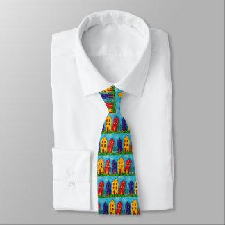 Helles wunderliches buntes Haus-künstlerische Krawatte