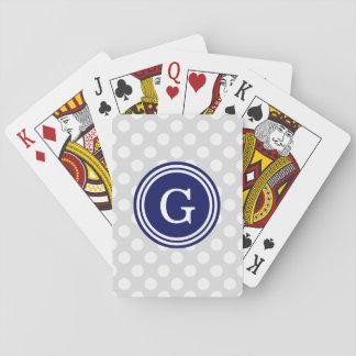 Hellgraue Marine-Blau-weiße Tupfen 1IR Spielkarten