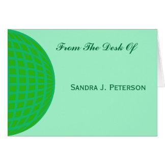 Hellgrünes globales Geschäft Mitteilungskarte