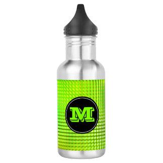 Hellgrünes LED-Muster-Gewohnheits-Monogramm Trinkflaschen