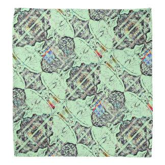 Hellgrünes Mondmotten-Muster Kopftuch