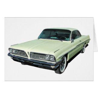 Hellgrünes Pontiac Zweitür hardtop 1961 Karte