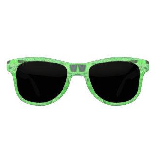 Hellgrünes schwarzes abstraktes sonnenbrille