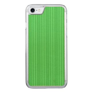 Hellgrünes vertikale Streifen-Muster Carved iPhone 8/7 Hülle