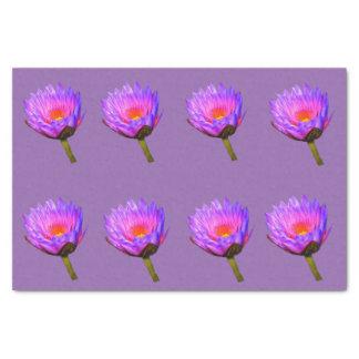 Hellpurpurne Wasser-Lilie Seidenpapier