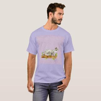 Hellpurpurner Gato Katzen-Wegwatercolor-seltener T T-Shirt