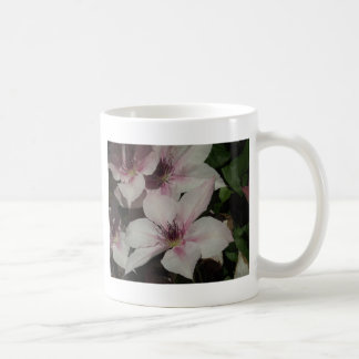 Hellrosa Clematis-Blüte Kaffeetasse