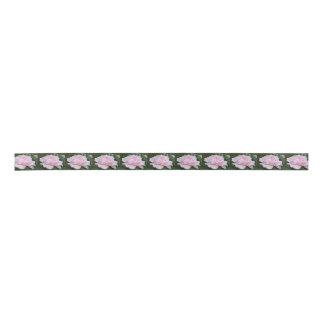 Hellrosa Pfingstrosen-Blüten-Band Satinband
